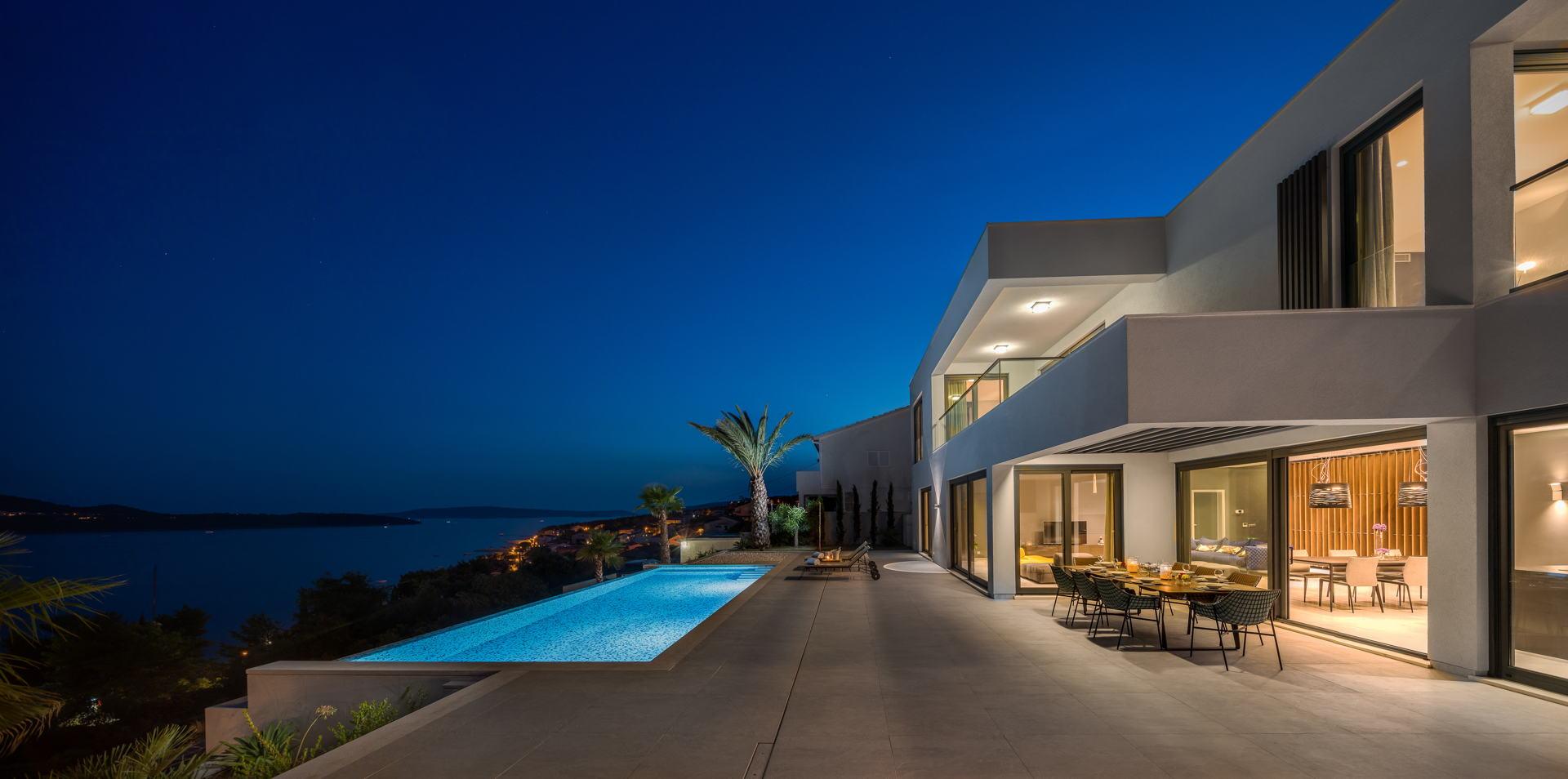 Villa Elyzeum Trogir View of the Islands and the Sea