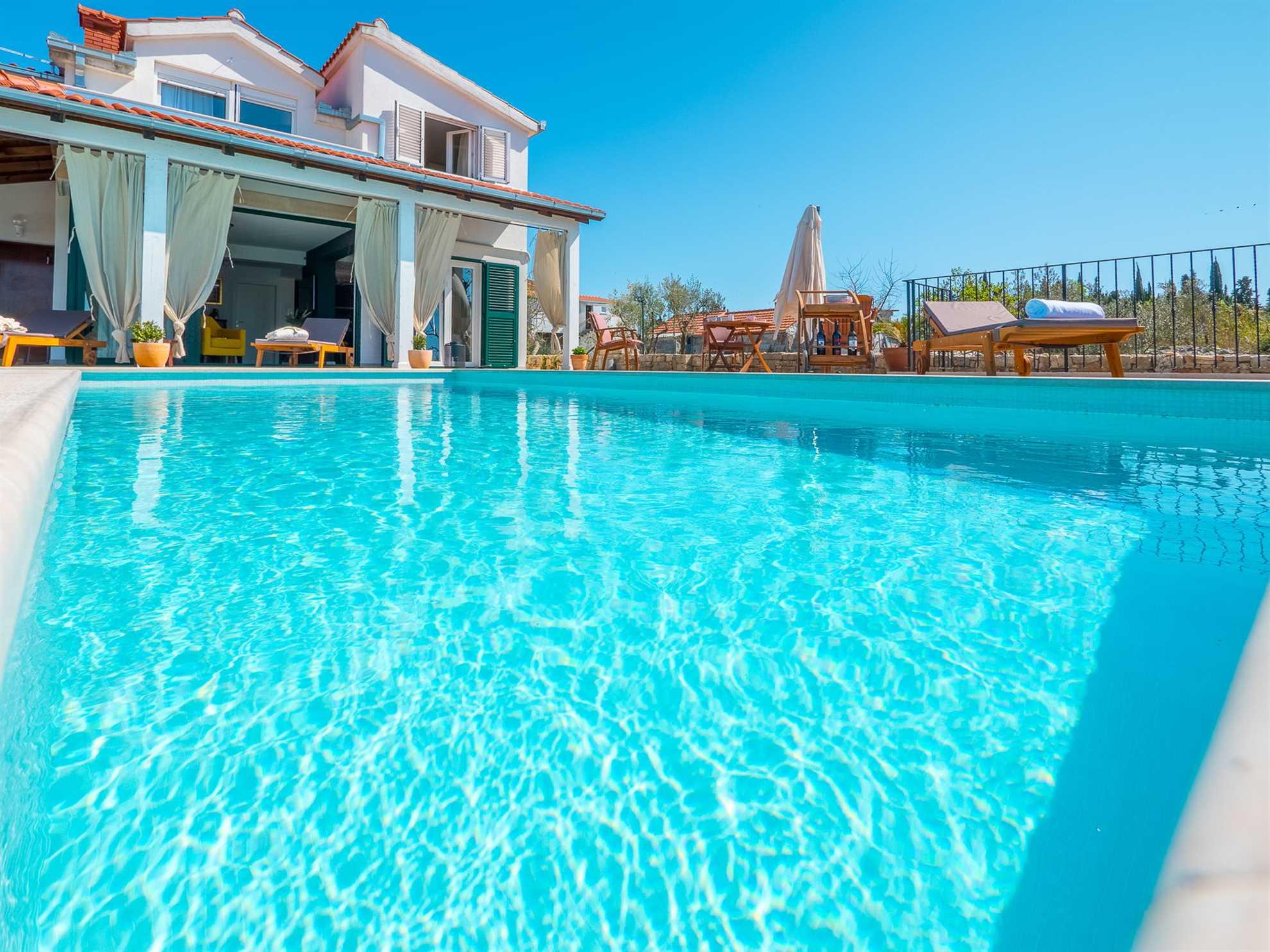 Pool in Villa Gardenia Solta