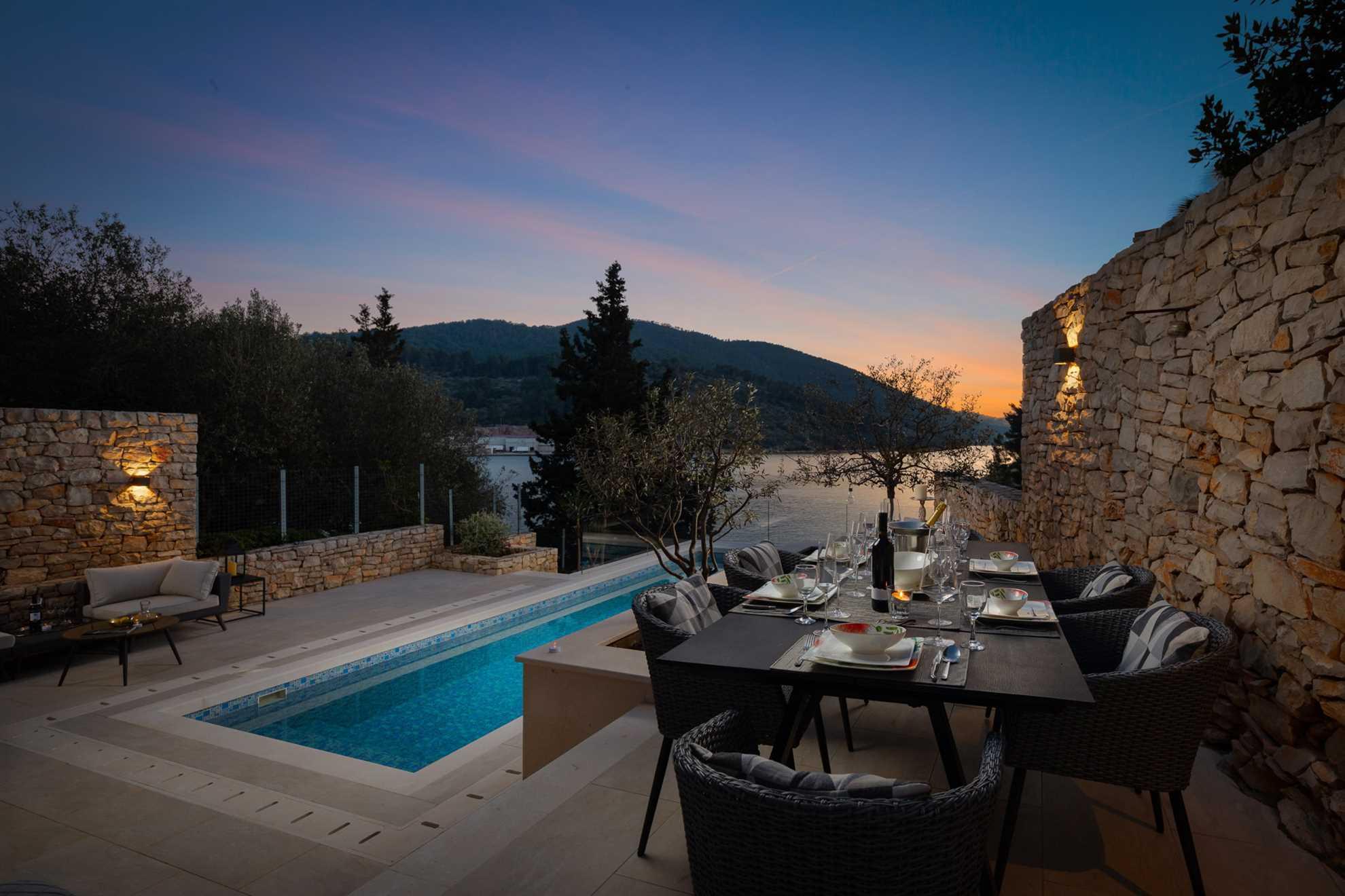 Outdoor dining with a sea view Villa Grain of Salt Korcula