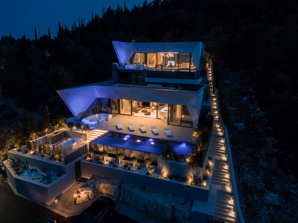 Villa Korcula Diamond from the air
