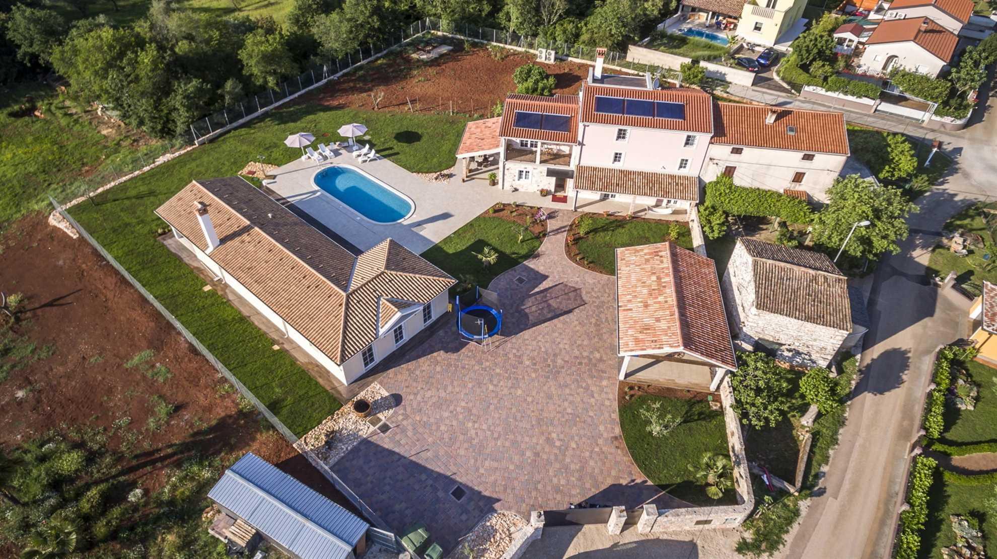 Villa Manuella Umag from the air