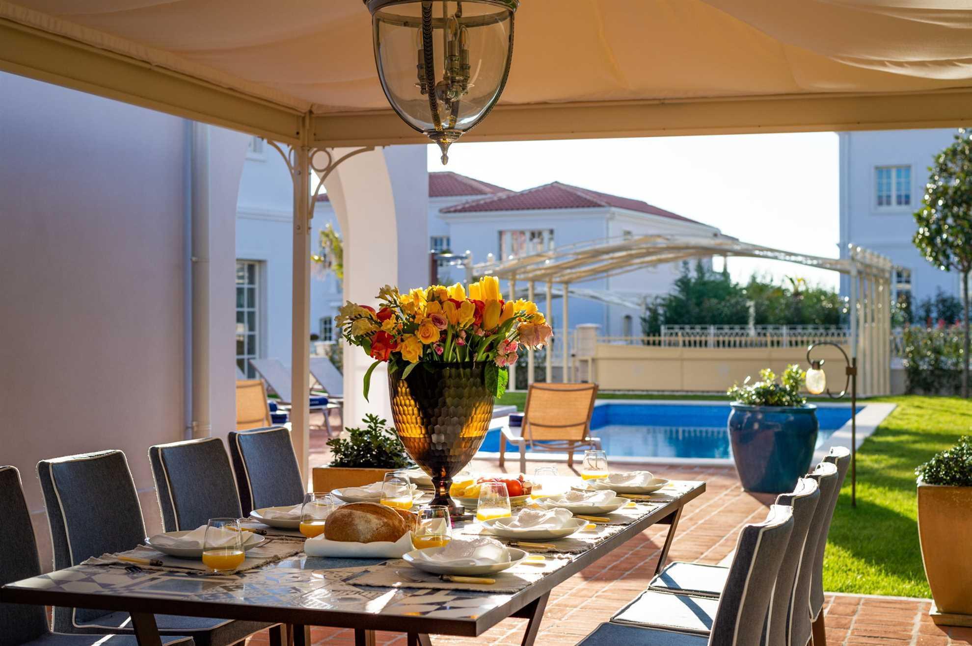 Gazebo for outdoor dining Villa Palazzo di Zara Istria