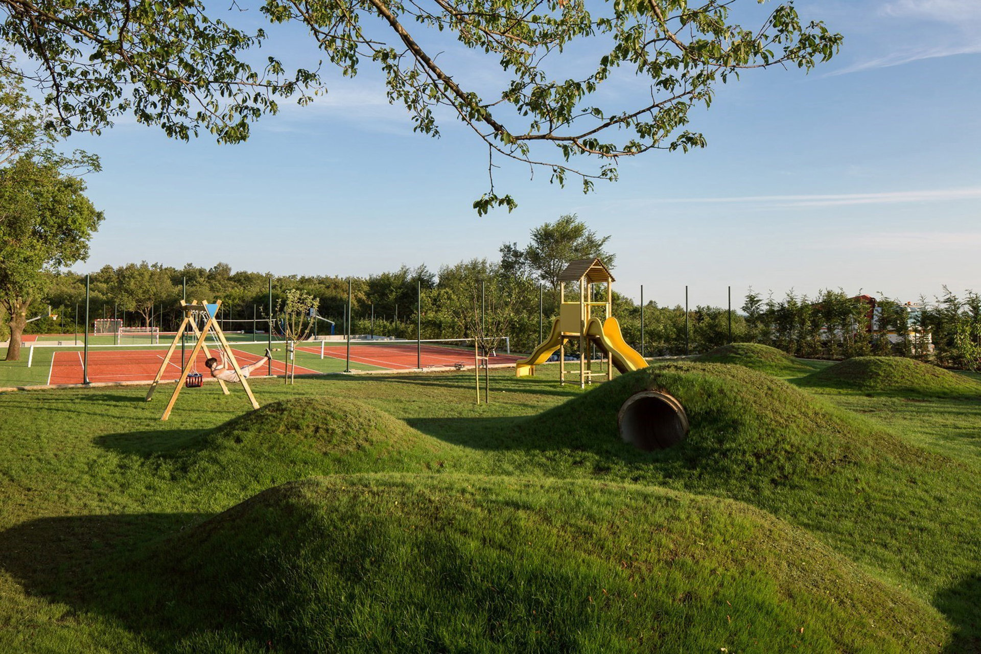 Playground of the villa complex