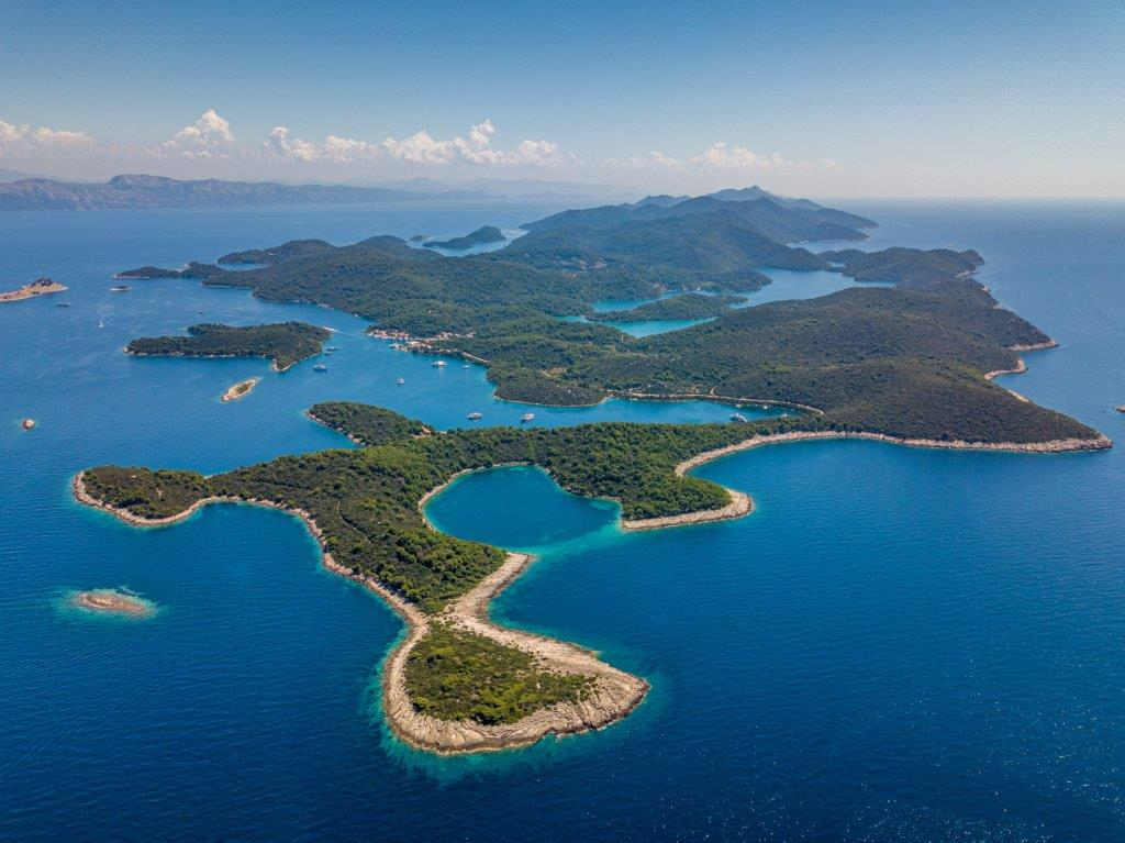 Air view of Mljet island by np-Mljet.hr