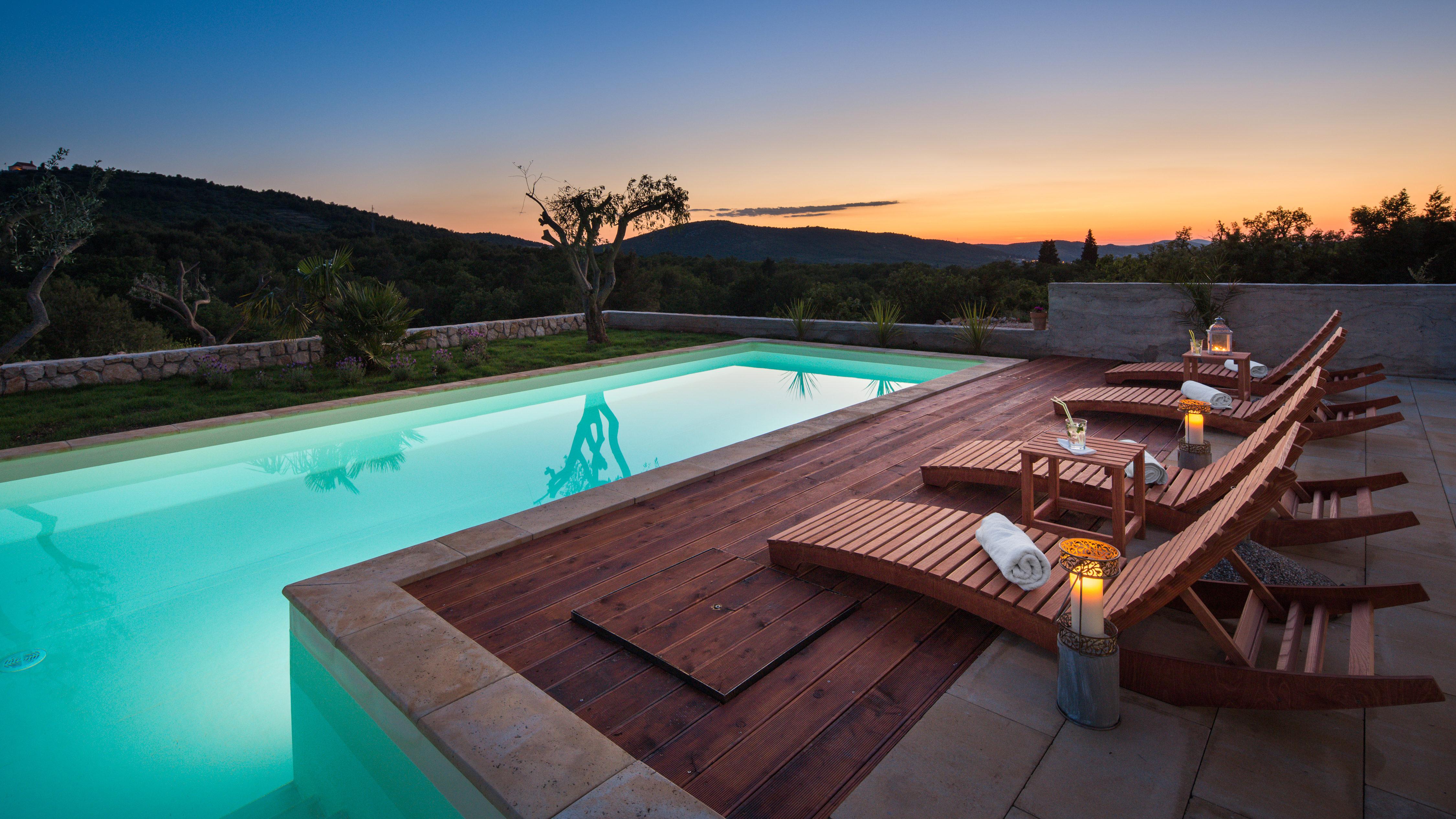 Pool area, Luxury Villa Antoneta