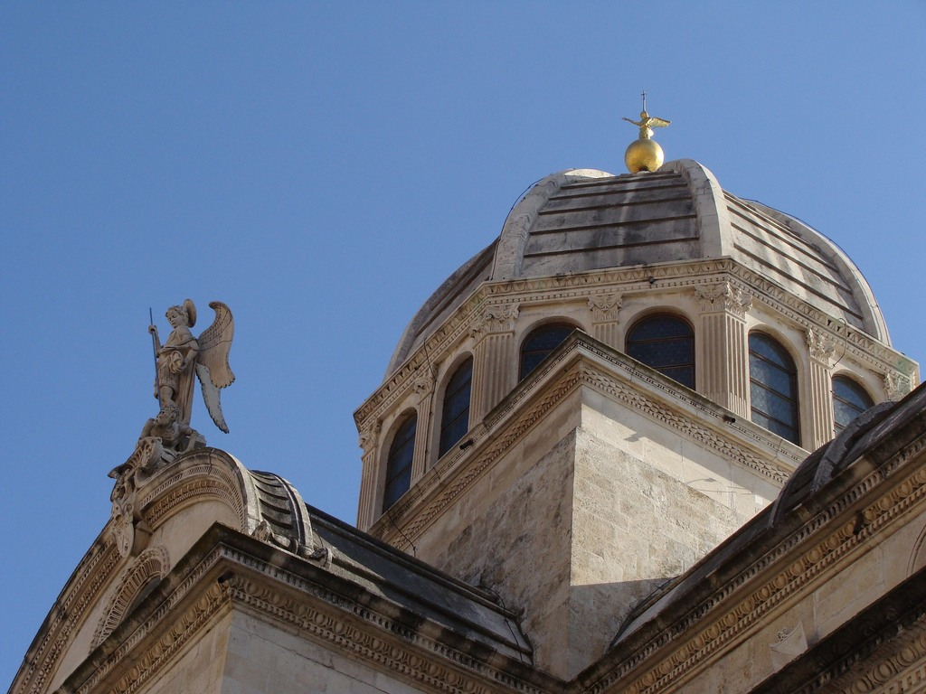 Dome on Saint James Cathedral in Sibenik