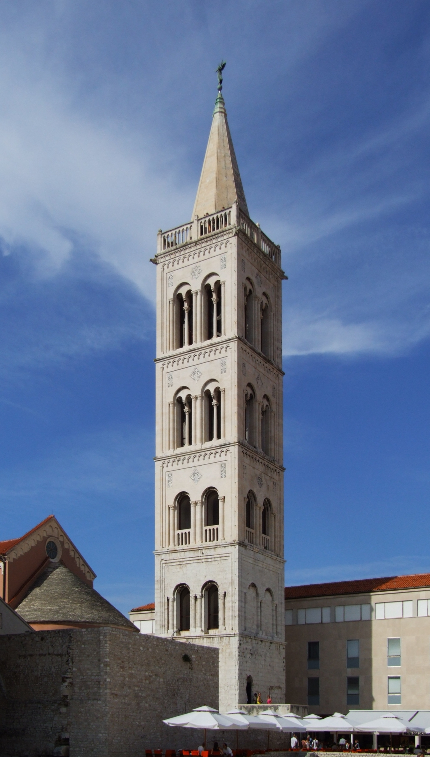 Bell tower of St Anastasia's Cathedral, Zadar