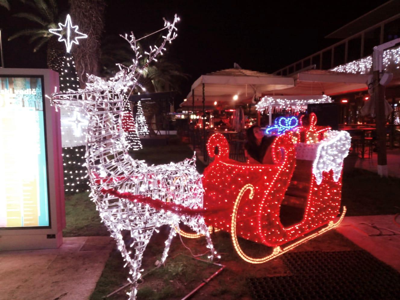Christmas sled at riva