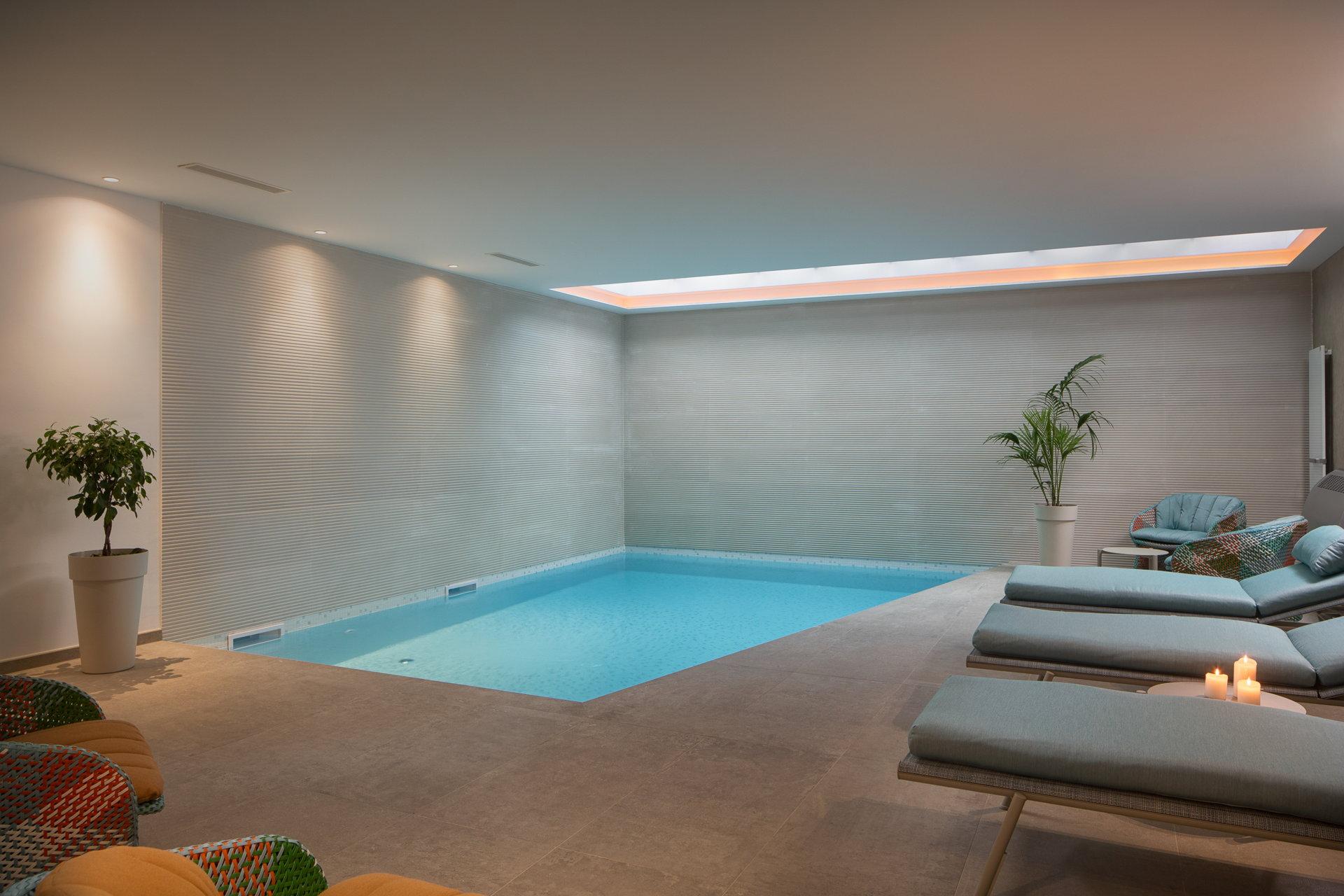Indoor pool with spa zone in Luxury Villa Euphoria - Luxury Villa Rental in Croatia