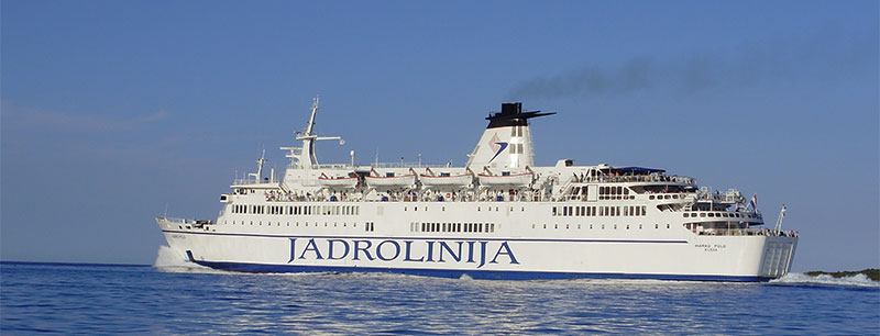 Jadrolinija car ferry in Croatia