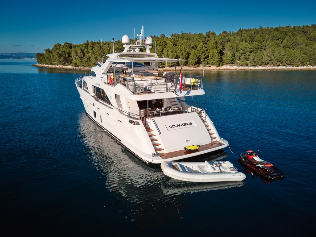 Luxury Yacht Benetti Delfino 93 to book through VIP Holiday Booker