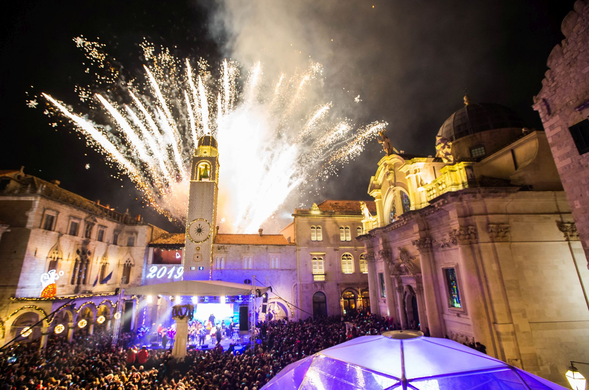 Photo: New Year Celebration at Stradun in Dubrovnik old town, Dubrovnik Winter Festival