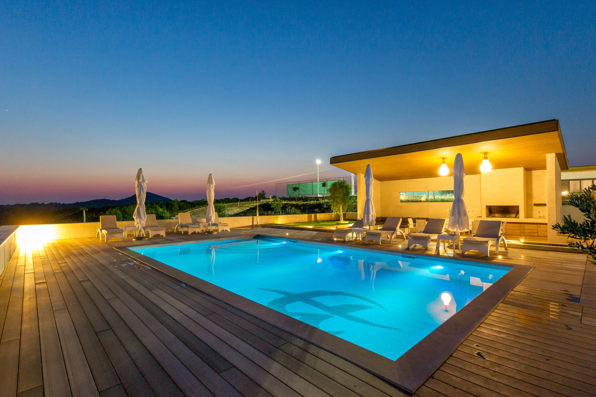 Pool area of Luxury Villa Pearl of Hvar with Swimming Pool