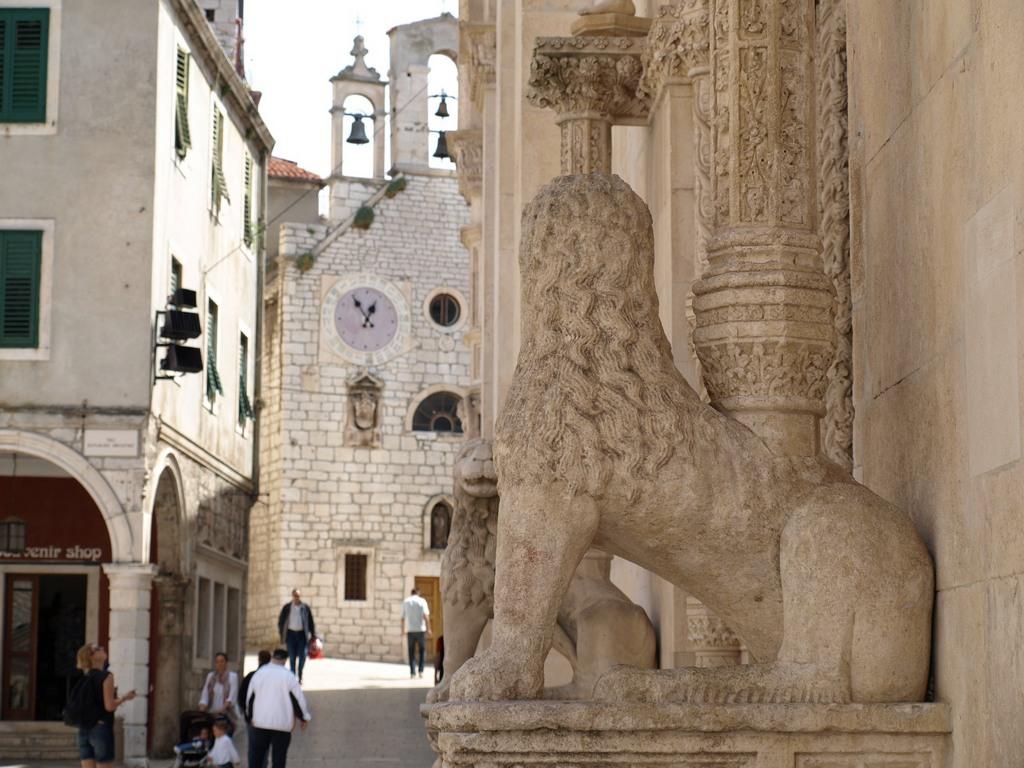 Stone statue in Sibenik Croatia