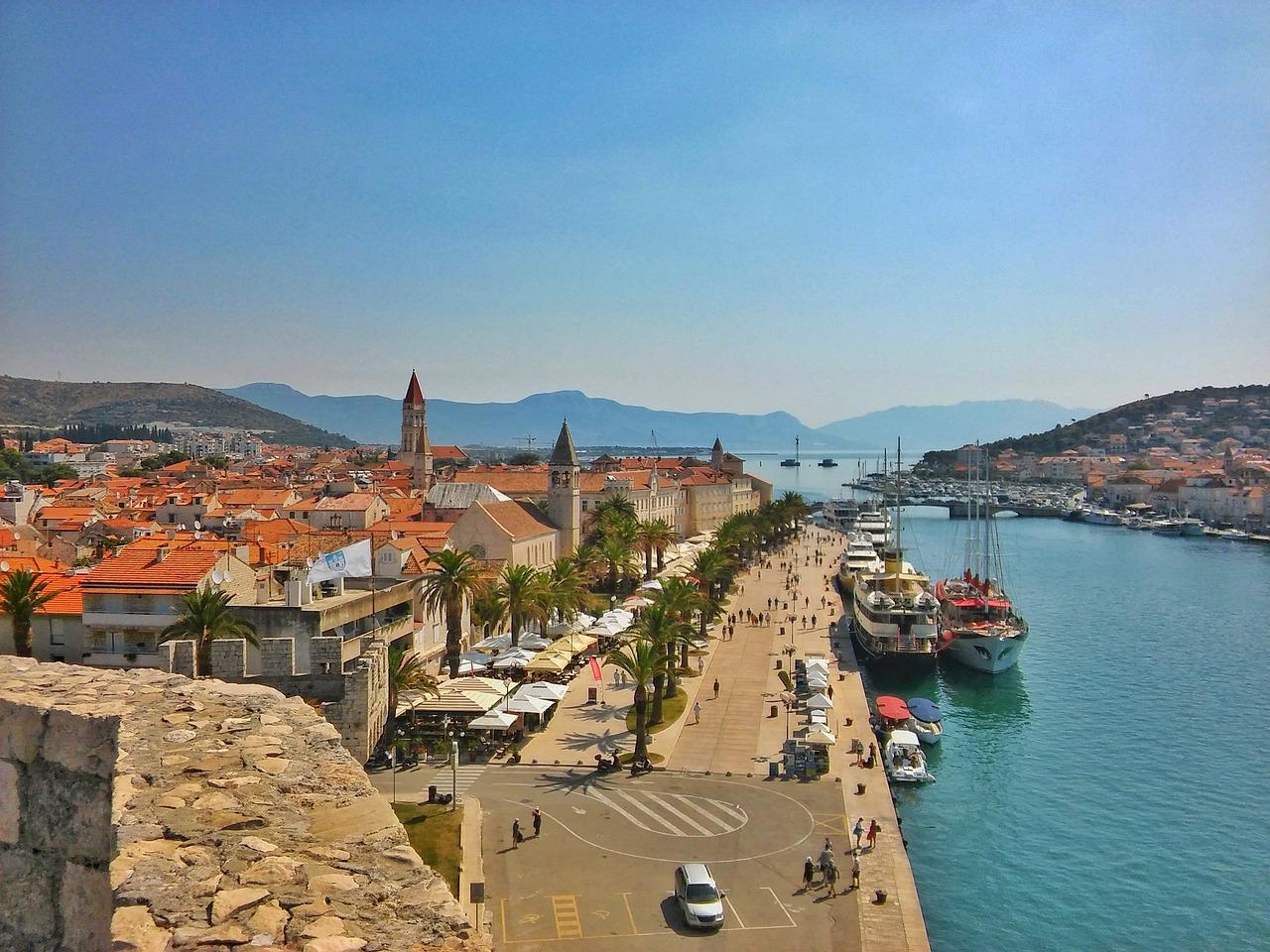 Trogir oldtown and waterfront promenade