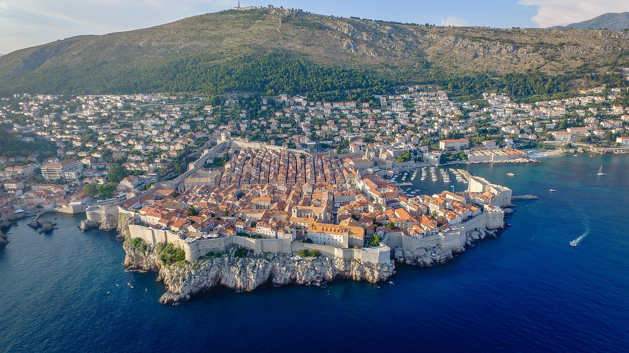 The Old Town of Dubrovnik - from the air