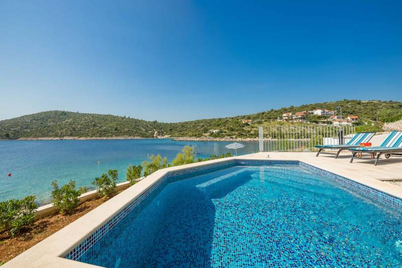 Beachfront Villa Amaris with Pool