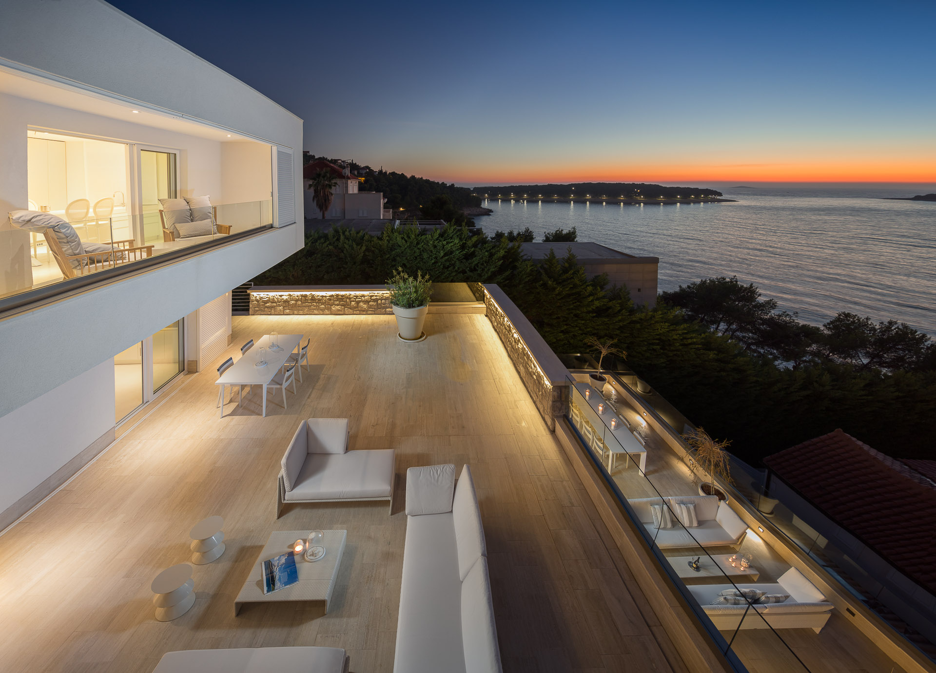 Luxury Villa Dance Forever with Pool at sunset