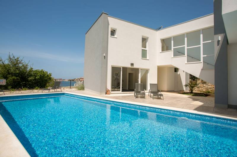 Beachfront Villa Orion with Pool