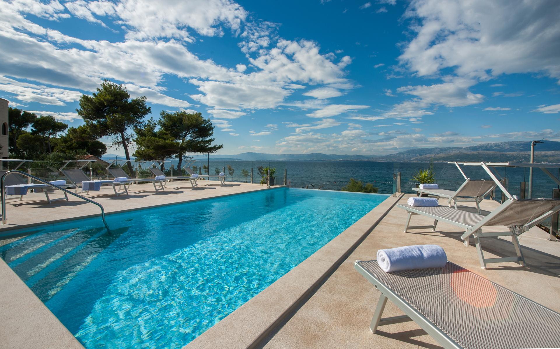 Beachfront Villa Endora with Pool