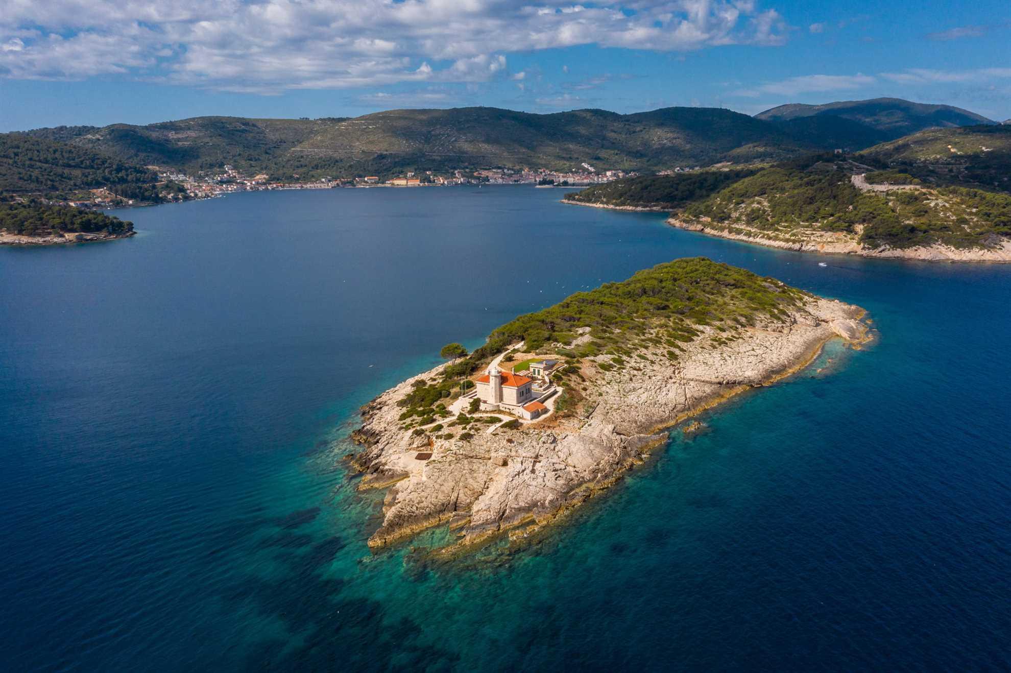 Luxury Villa Lighthouse Beyond Vis Island
