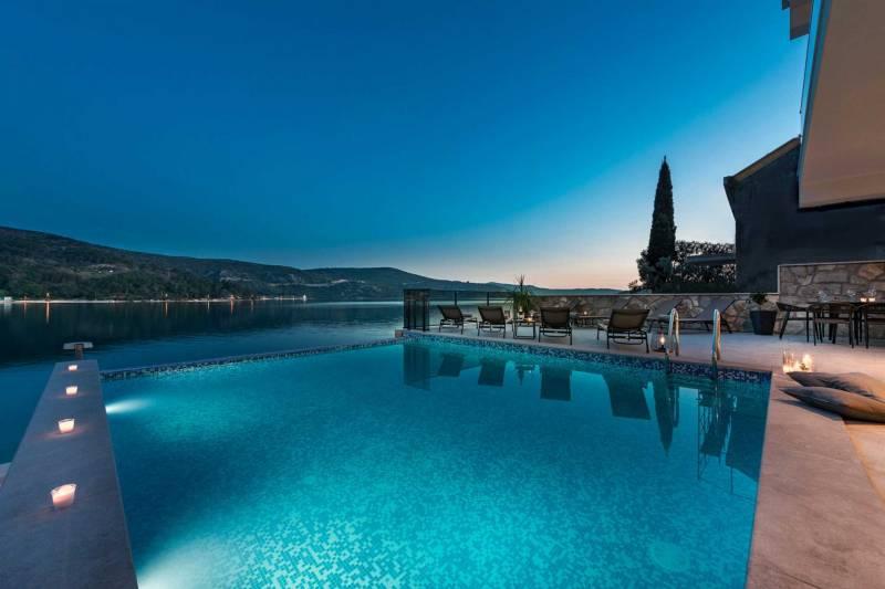 Beachfront Villa Absoluta with Pool