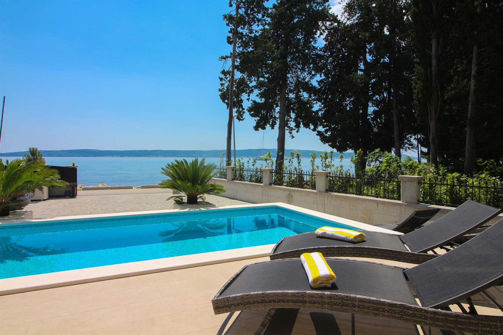 Beachfront Villa Sea Mystery with Pool