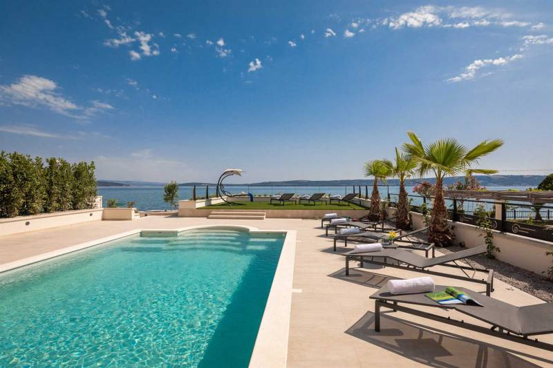 Beachfront Villa Anemonia with Pool